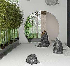 3d园林<font class='myIsRed'>假山</font>植物模型