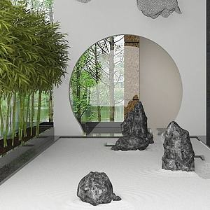 3d<font class='myIsRed'>园林</font>假山植物模型