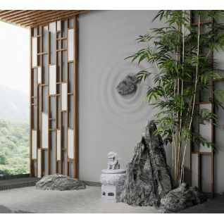 庭院阳台假山3d模型