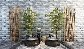3d竹子模型
