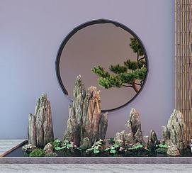 3d园林<font class='myIsRed'>假山</font>模型