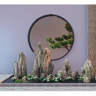 园林假山3d模型