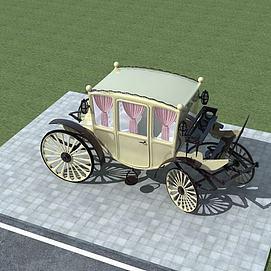 欧式马车模型