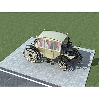 欧式马车3d模型