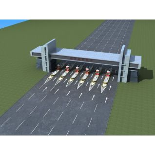 高速路收费站3d模型