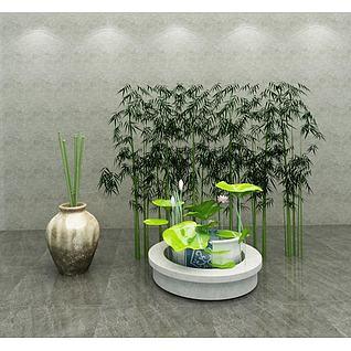 园艺小品3d模型