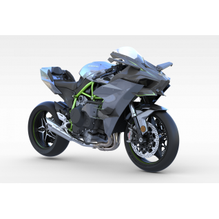 川崎摩托车3d模型3d模型