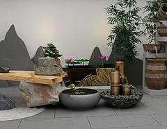 园艺小品模型3d模型