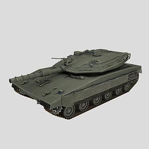 以色列梅卡瓦坦克模型3d模型