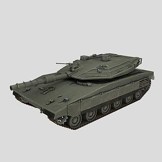 以色列梅卡瓦坦克3d模型