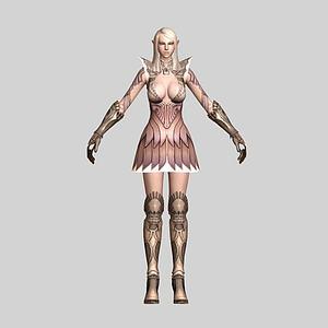 精灵美女战士模型3d模型