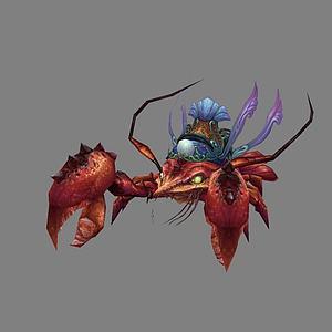 大龙虾3d模型
