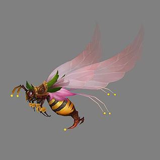 蜜蜂蜂王3d模型
