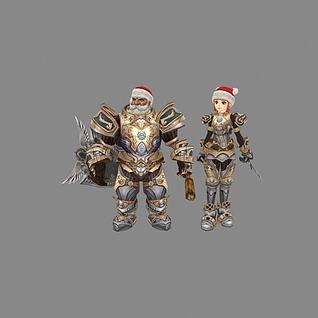 游戏角色人物3d模型