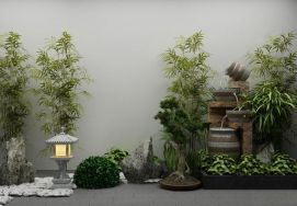 3d<font class='myIsRed'>假山</font>植物模型