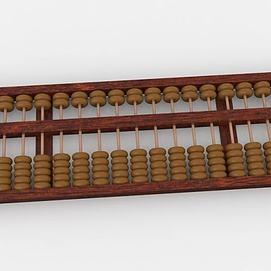 老式算盘模型