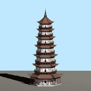 3d古建模型