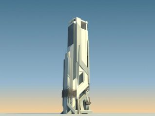 未来概念建筑3d模型