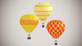 3d热气球模型