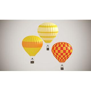 热气球3d模型3d模型