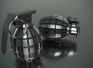 手雷模型3d模型