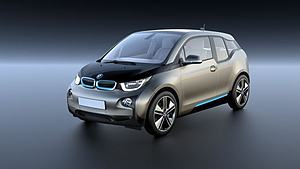 3d新能源纯电动汽车BMWi3模型