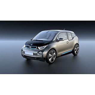 新能源纯电动汽车BMWi33d模型3d模型