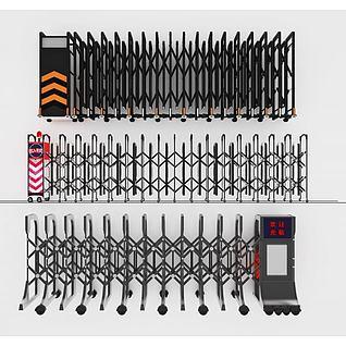 电动门电动伸缩门3d模型