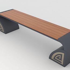 公共座椅模型