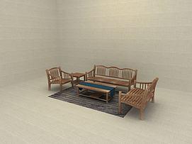 家庭装修沙发一套模型
