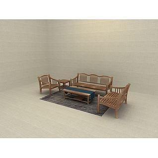 家庭装修沙发一套3d模型