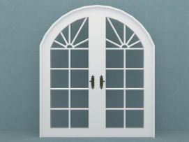 玻璃门模型