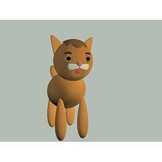 小猫3d模型