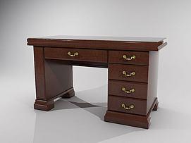 欧式书桌模型