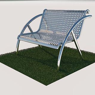公園戶外椅3d模型