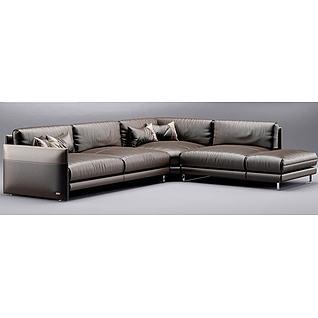 现代沙发3d模型3d模型