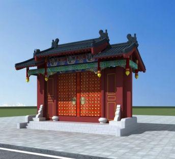 中式吊花门头