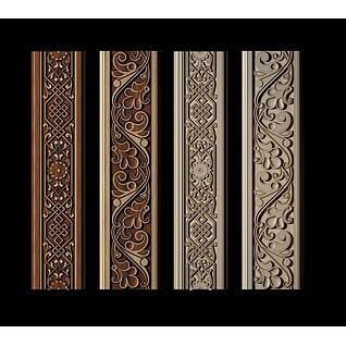 新中式雕花装饰线3d模型3d模型