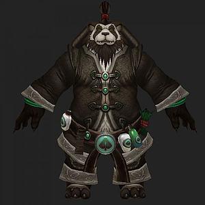 魔兽熊猫人3d模型