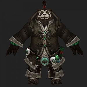 3d魔兽熊猫人模型