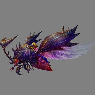 变异黑甲虫坐骑3d模型