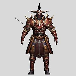 游戲角色盔甲戰士模型3d模型