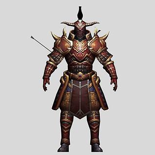 游戏角色盔甲战士3d模型
