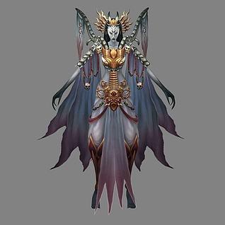 女怪物3d模型