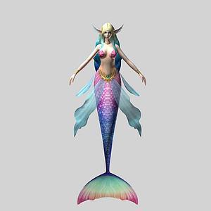 天堂角色美人魚模型3d模型