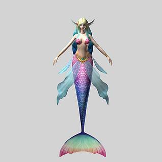 天堂角色美人鱼3d模型