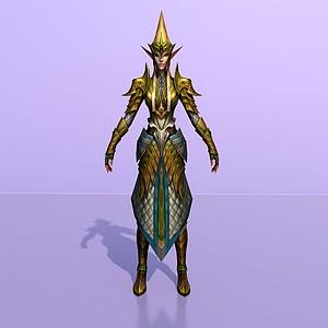 傭兵精靈英雄角色模型3d模型