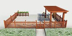 木护栏模型3d模型