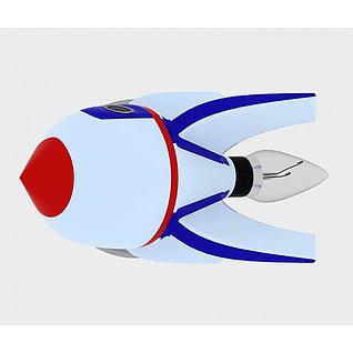 火箭台灯3d模型