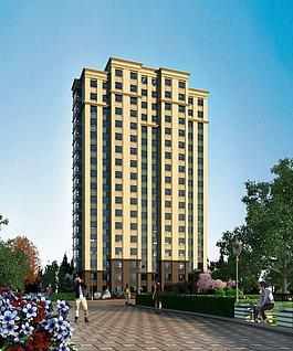 高层建筑住宅3d模型